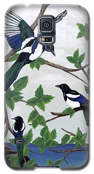 Black Billed Magpies Galaxy S5 Case