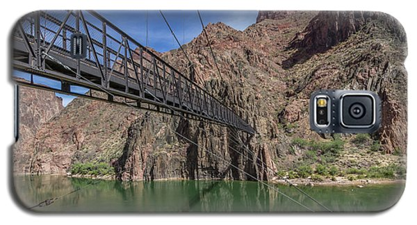 Black Bridge Over The Colorado River At Bottom Of Grand Canyon Galaxy S5 Case