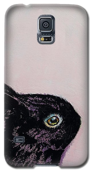 Black Bunny Galaxy S5 Case by Michael Creese