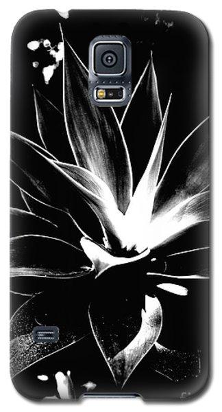 Black Cactus  Galaxy S5 Case by Rebecca Harman