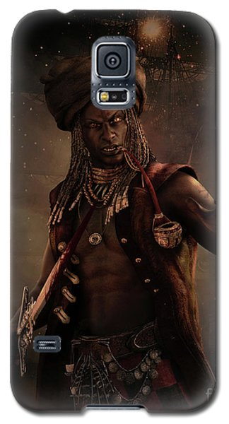 Galaxy S5 Case featuring the digital art Black Caesar Pirate by Shanina Conway