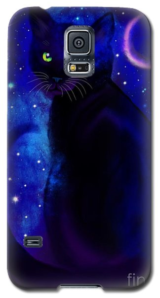 Galaxy S5 Case featuring the painting Black Cat Blues  by Nick Gustafson