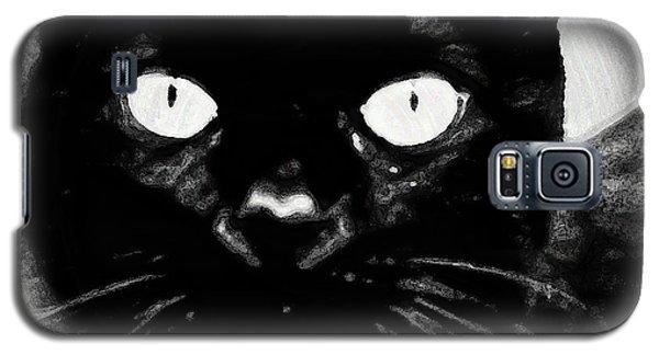 Black Cat Galaxy S5 Case by Gina O'Brien