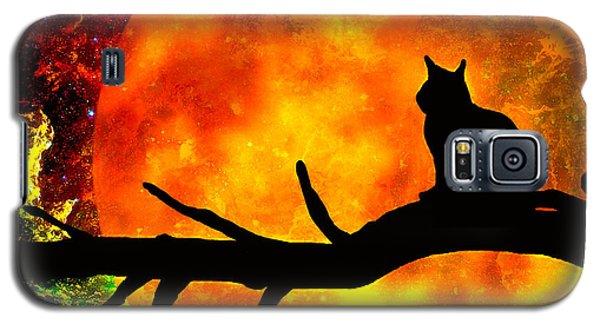 Black Cat Harvest Moon Galaxy S5 Case