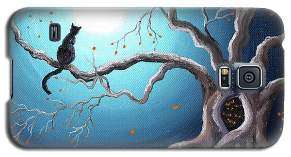 Black Cat In A Haunted Tree Galaxy S5 Case