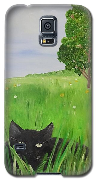 Black Cat In A Meadow Galaxy S5 Case