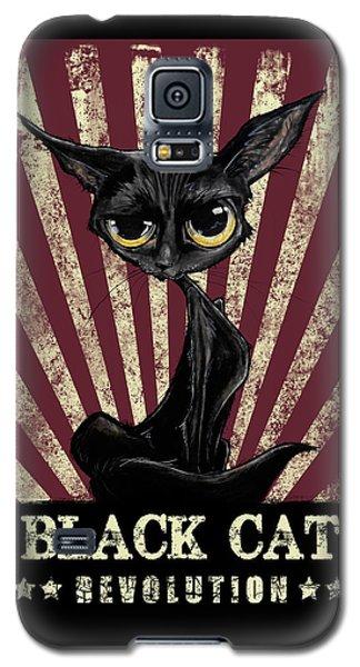 Black Cat Revolution Galaxy S5 Case