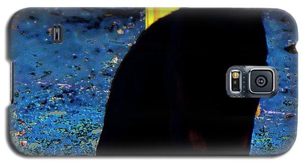 Black Cat Yellow Eyes Galaxy S5 Case
