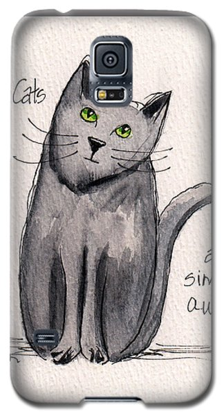 Black Cats Are Simply Awesome Galaxy S5 Case