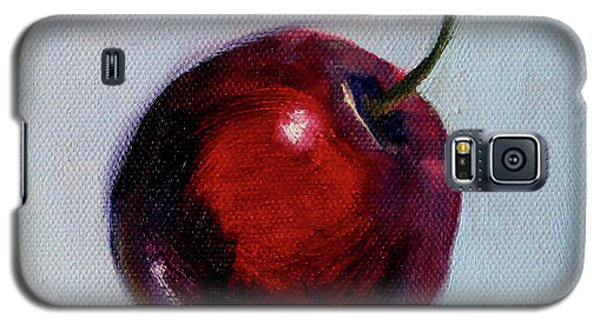 Galaxy S5 Case featuring the painting black Cherry by Nancy Merkle