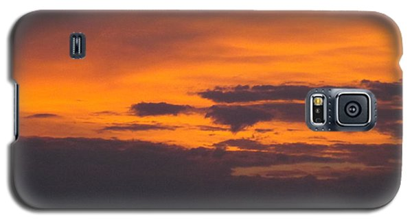 Black Cloud Sunset  Galaxy S5 Case by Don Koester