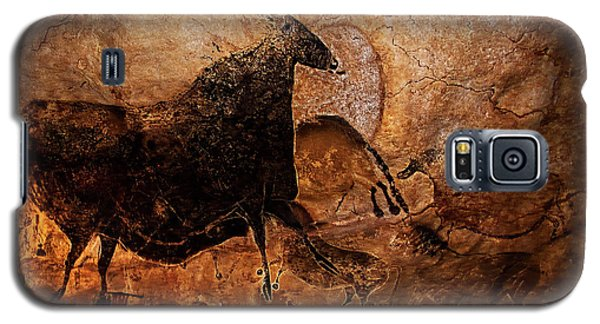 Black Cow And Horses Galaxy S5 Case