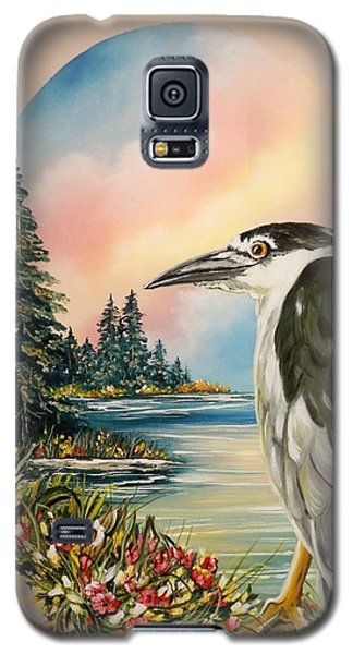 Black Crowned Heron Galaxy S5 Case by Sigrid Tune