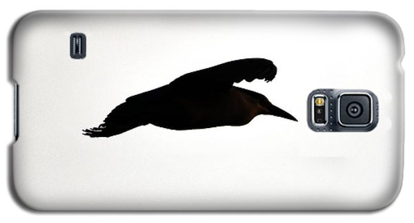 Black-crowned Night Heron Silhouette Galaxy S5 Case