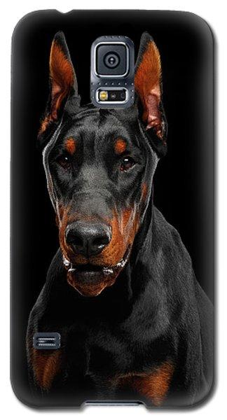 Black Doberman Galaxy S5 Case