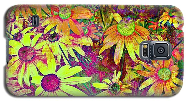 Black-eyed Susan   Abstract  Galaxy S5 Case