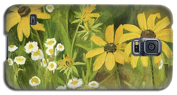 Black-eyed Susans In A Field Galaxy S5 Case by Laurie Rohner