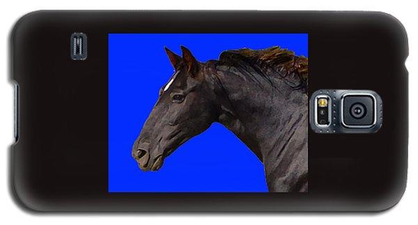 Black Horse Spirit Blue Galaxy S5 Case