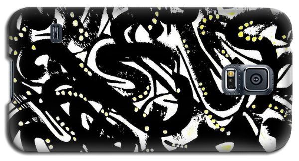 Black Ink Gold Paint Galaxy S5 Case by Expressionistart studio Priscilla Batzell