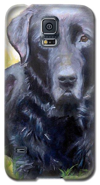 Black Lab Pet Portrait Galaxy S5 Case