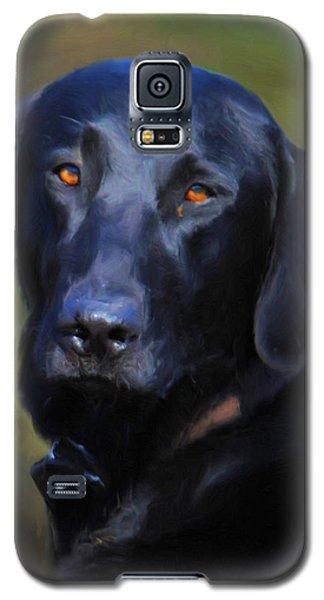 Black Lab Portrait Galaxy S5 Case