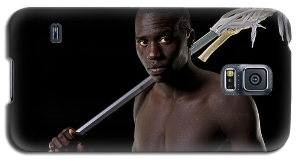 Black Lacrosse Player Galaxy S5 Case