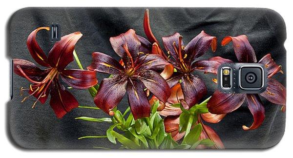 Black Lilies Galaxy S5 Case