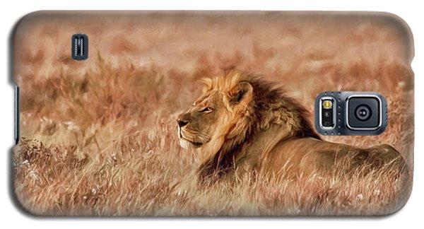 Black-maned Lion Of The Kalahari Waiting Galaxy S5 Case