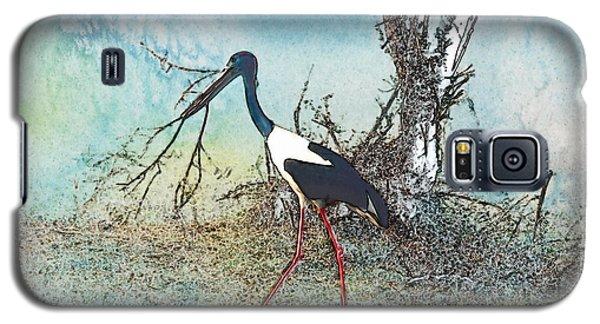 Black Neck Stork  Galaxy S5 Case by Manjot Singh Sachdeva