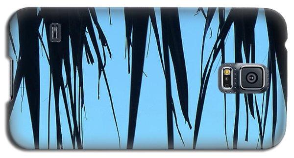 Black Palms On Blue Sky Galaxy S5 Case