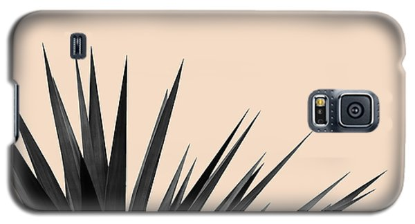 Black Palms On Pale Pink Galaxy S5 Case