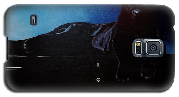 Black Panther And His Piano Galaxy S5 Case