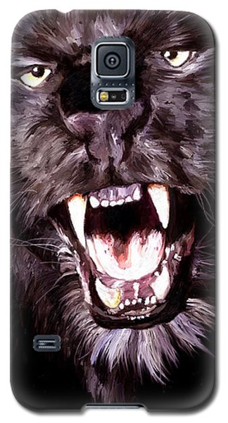 Galaxy S5 Case featuring the painting Black Panther by James Shepherd