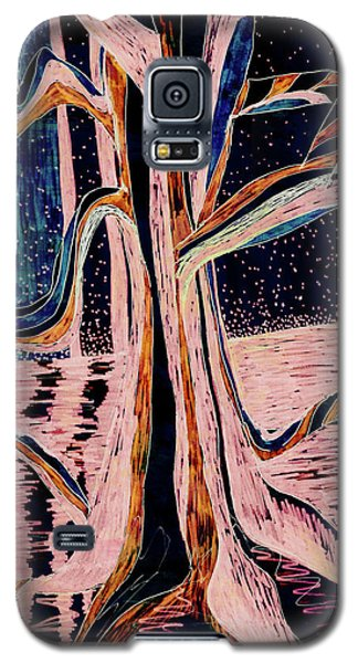 Black-peach Moonlight River Tree Galaxy S5 Case