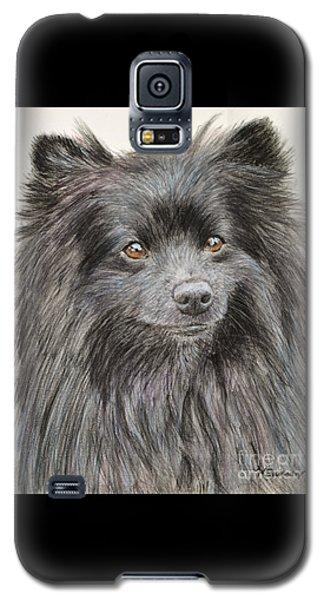 Black Pomeranian Painting Galaxy S5 Case