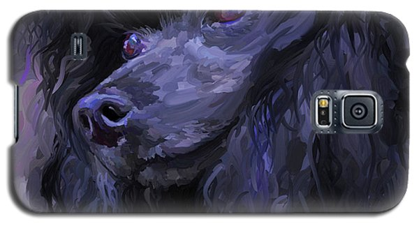 Black Poodle - Square Galaxy S5 Case