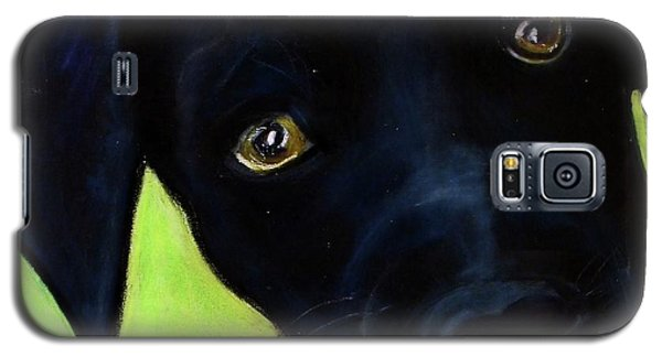 Black Puppy - Shelter Dog Galaxy S5 Case by Laura  Grisham