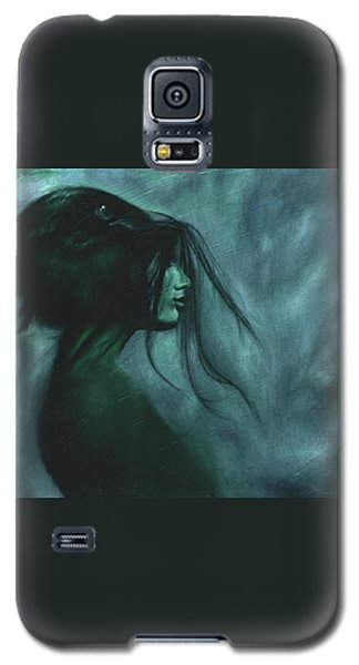 Galaxy S5 Case featuring the painting Black Raven by Ragen Mendenhall