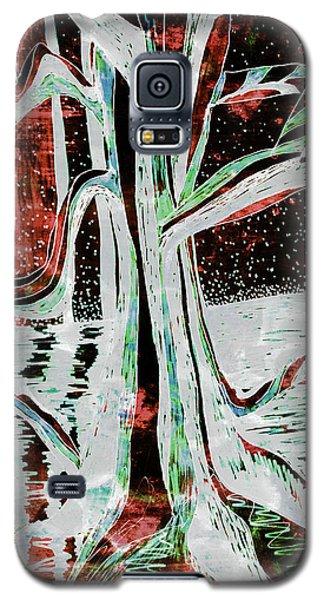 Black-red Moonlight River Tree Galaxy S5 Case