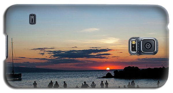 Black Rock Sunset Galaxy S5 Case