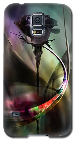 Black Rose In Color Symphony Galaxy S5 Case