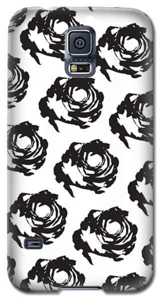 Black Rose Pattern Galaxy S5 Case