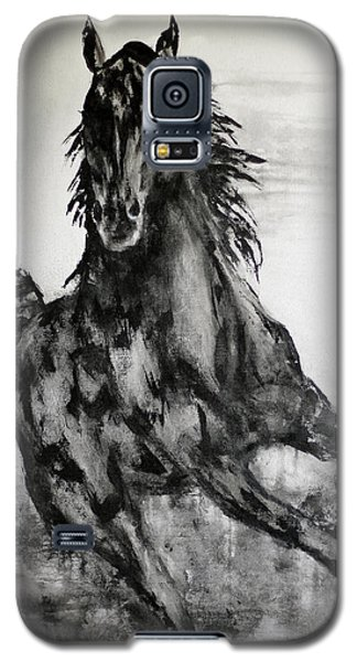 Black Runner Galaxy S5 Case by Jennifer Godshalk