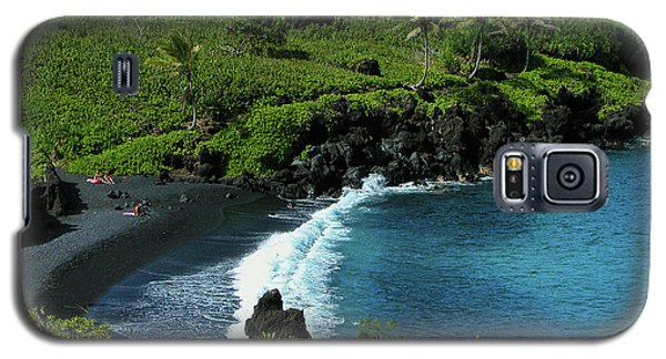Black Sand Beach  Galaxy S5 Case
