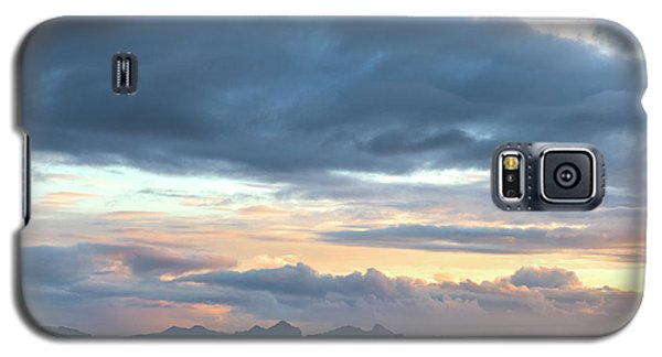 Galaxy S5 Case featuring the photograph Black Sand Sunset Iceland by Brad Scott
