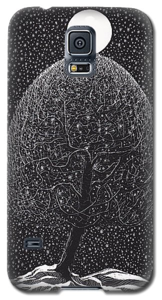 Black Shadow Tree Galaxy S5 Case by Charles Cater