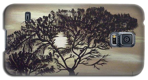 Black Silhouette Tree Galaxy S5 Case