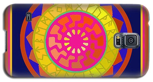 Black Sun Mandala Rune Calendar Galaxy S5 Case