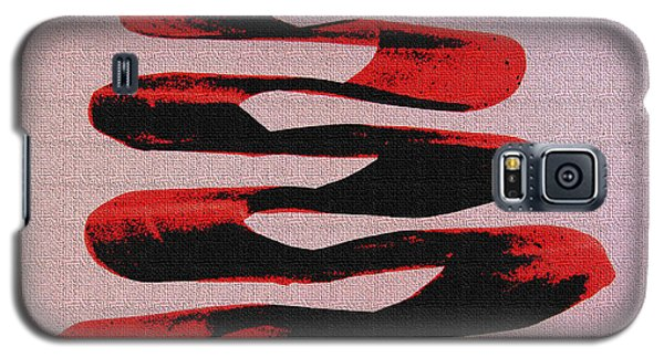 Black Walnut Ink Abstract #10 Galaxy S5 Case by Tom Janca