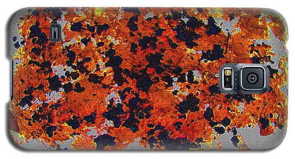Black Walnut Ink Abstract With Splats Galaxy S5 Case by Tom Janca